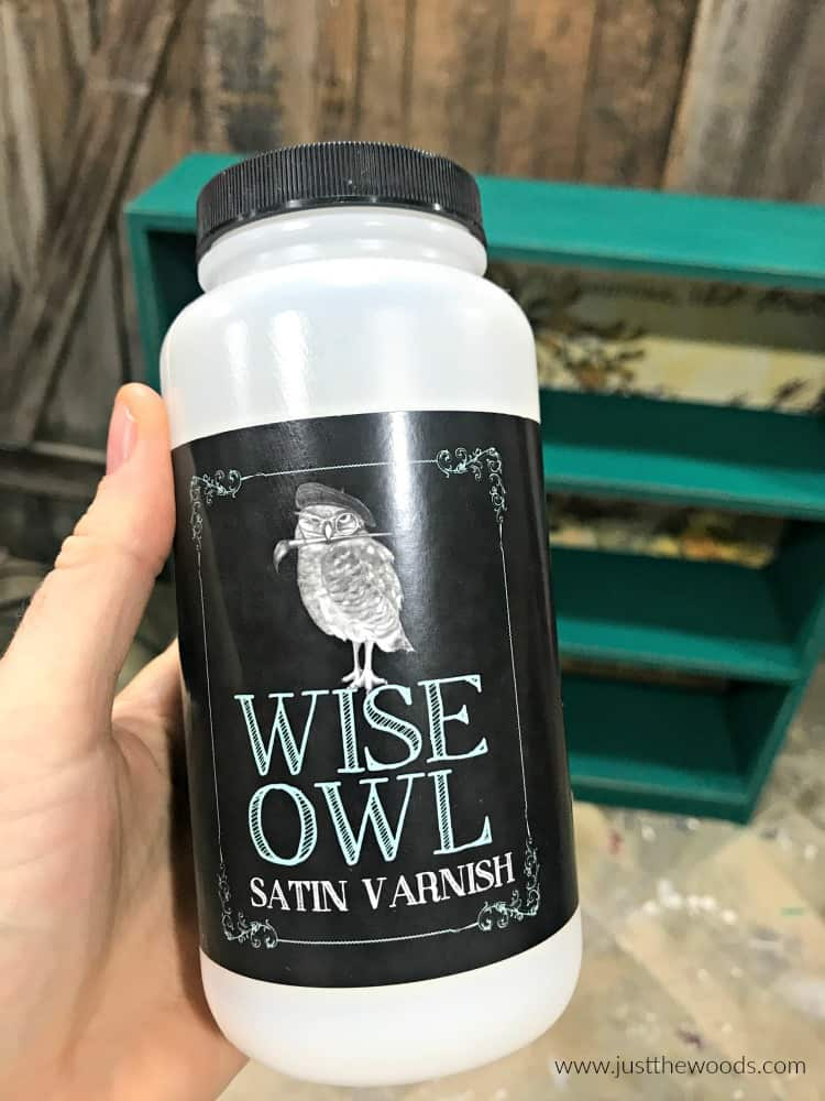 how to seal painted furniture, clear varnish, clear sealer, wise owl varnish