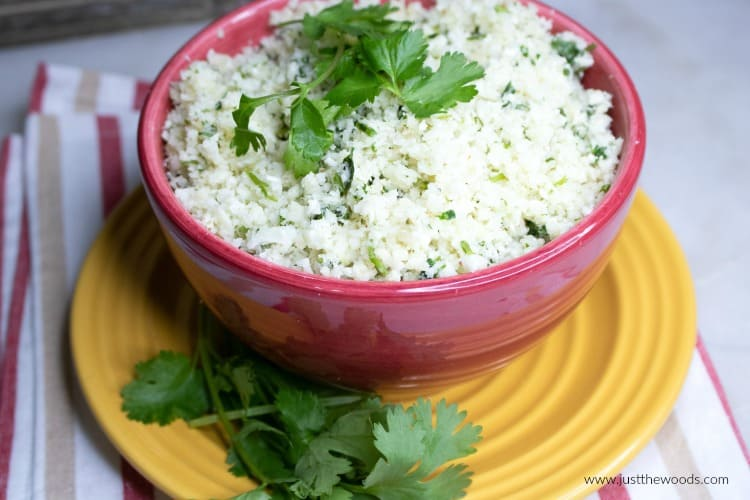 easy cauliflower rice recipe, cilantro lime cauliflower rice, how to make cauliflower rice