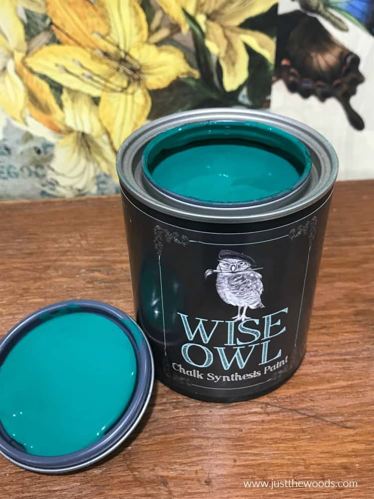 green chalk paint, wise owl paint, emerald green paint, chalk painting furniture