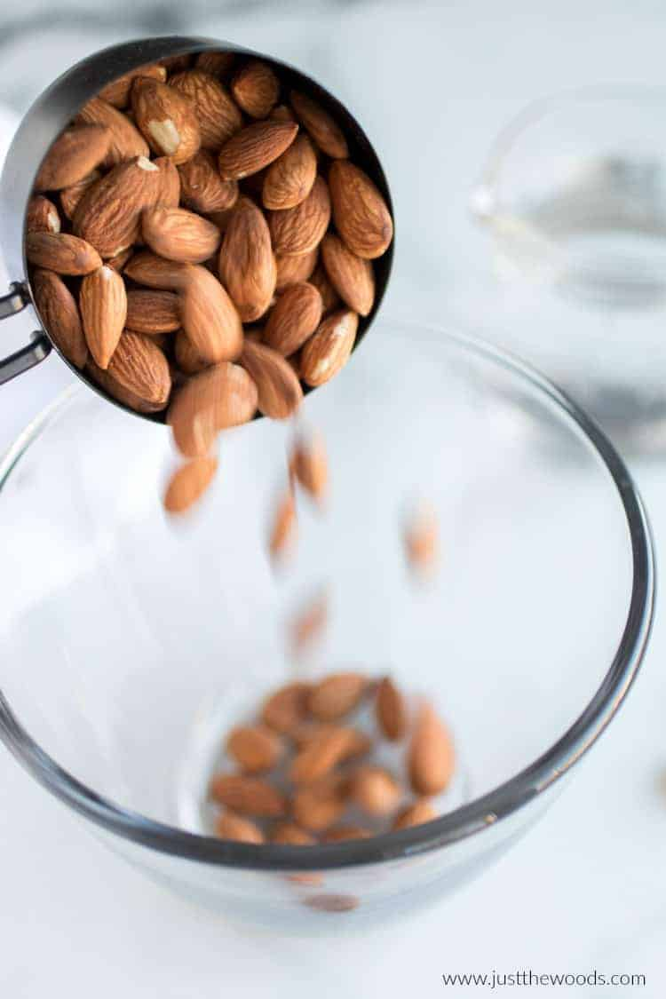 how to soften almonds, how to make your own almond milk