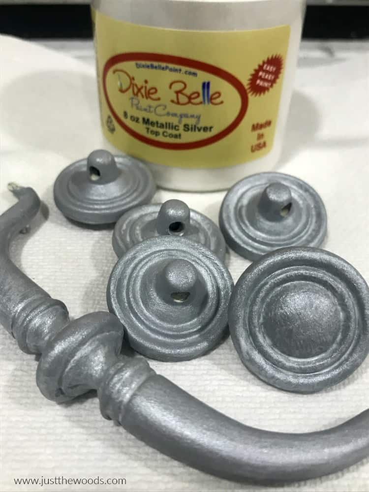 silver metallic paint, metallic silver paint, painting hardware silver