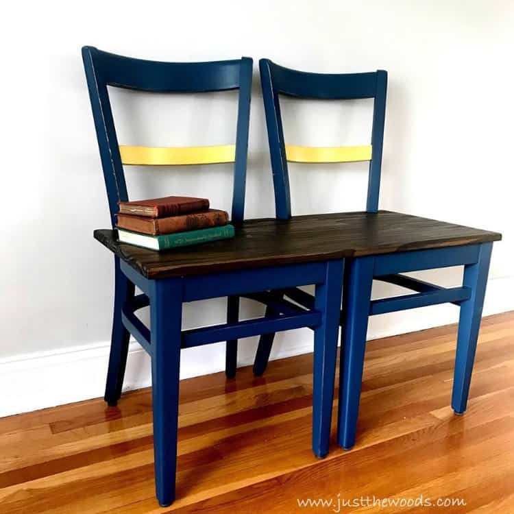 How to Make a DIY Bench from Chairs