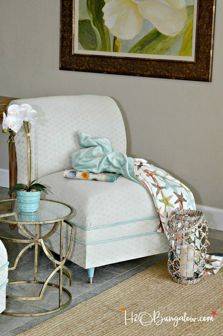 painting fabric chairs, how to paint a fabric chair, painted chairs