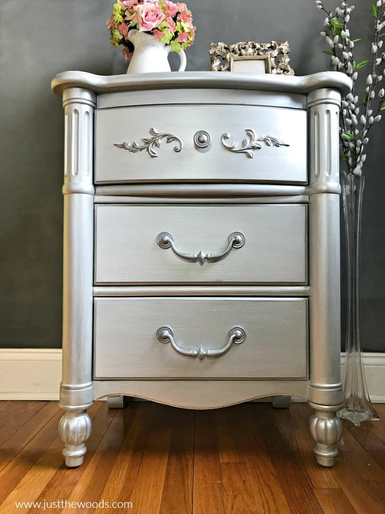 silver metallic painted furniture, painted furniture ideas