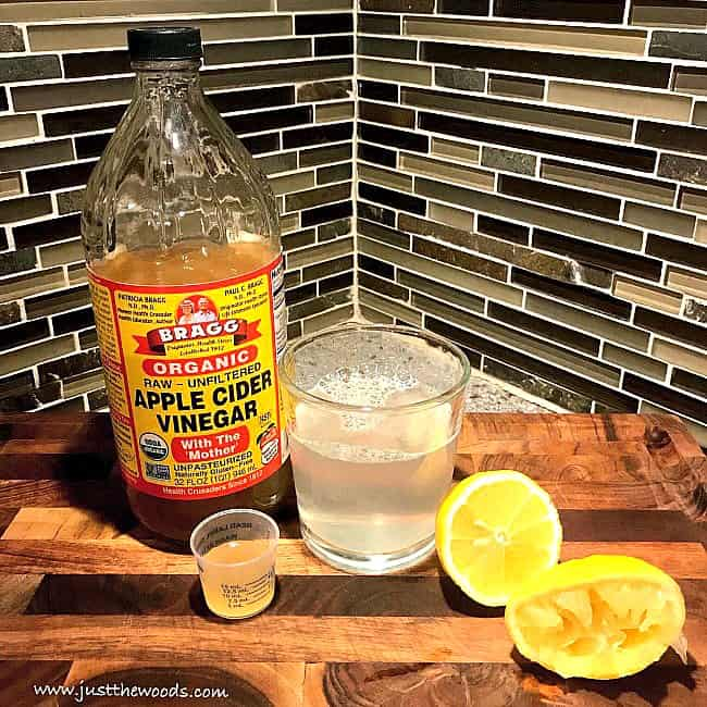 apple cider vinegar shots, apple cider vinegar with lemon, acv drink