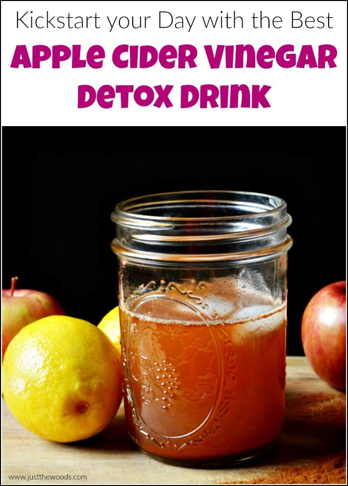 Start your day off right with an apple cider vinegar detox drink. With cinnamon, lemon and apple cider vinegar you are sure to start your day off on the healthy foot. There are so many health benefits of apple cider vinegar. An ACV drink each morning is a great way to start the day. #applecidervinegardetoxdrink #applecidervinegardrink #ACVdrink #detoxdrink