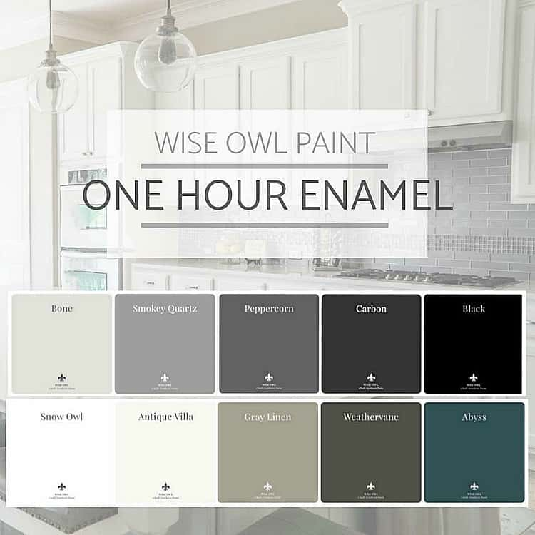 wise owl paint, one hour enamel, fast drying furniture paint, best paint for cabinets
