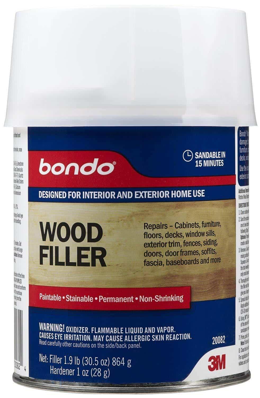 bondo wood filler, blue can bondo, 3m bondo,