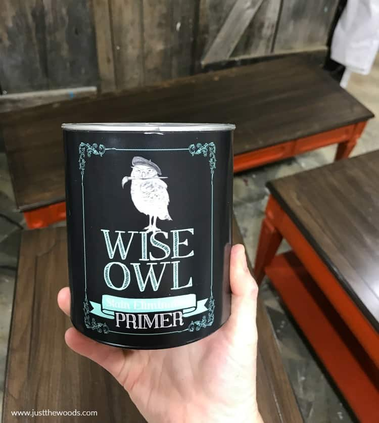 clear primer, furniture primer, wise owl paint, furniture paint primer
