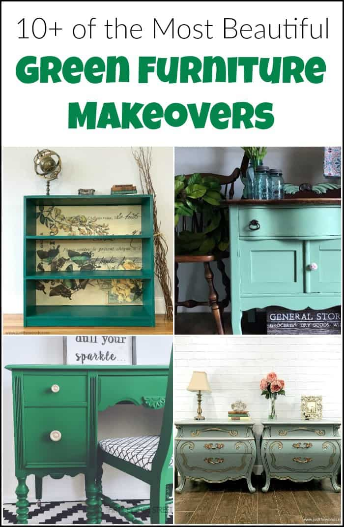 Green furniture is completely underrated if you ask me. Check out these gorgeous painted green furniture makeovers to fall in love with the color green. #greenfurniture #greenpaintedfurniture #greenmakeovers #greenfurnituremakeovers #paintedfurniture #greenfurniturepaint #greenpainteddesk #greenfurnitureideas