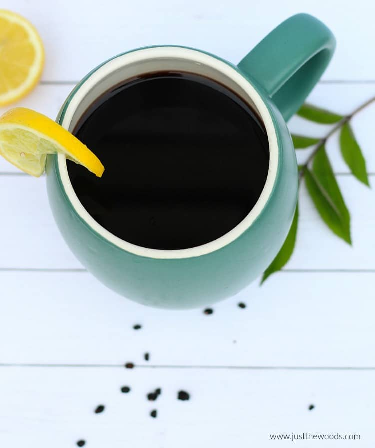 elderberry tea recipe, how to make elderberry tea, black elderberry tea