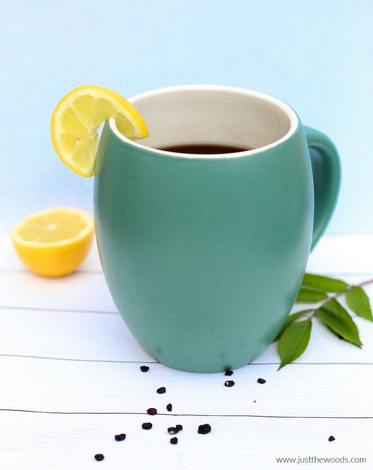 elderberry tea, how to make elderberry tea, immune boosting tea recipe