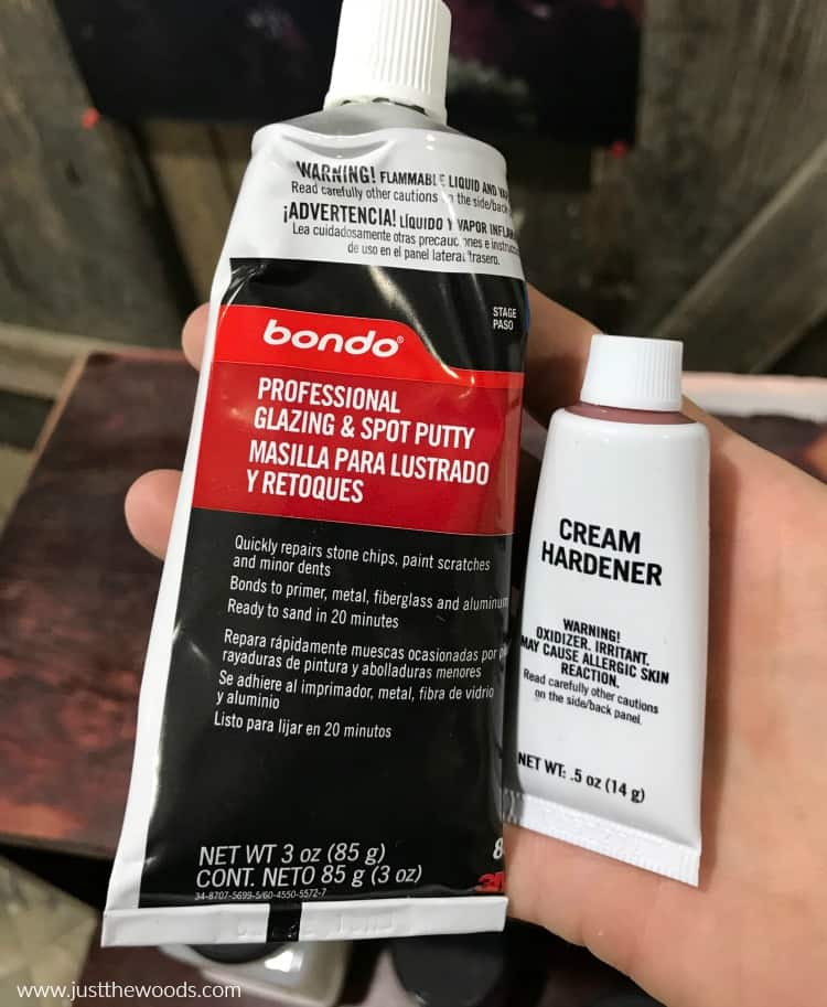 bondo hardener, bondo wood filler, how to use bondo, what is bondo