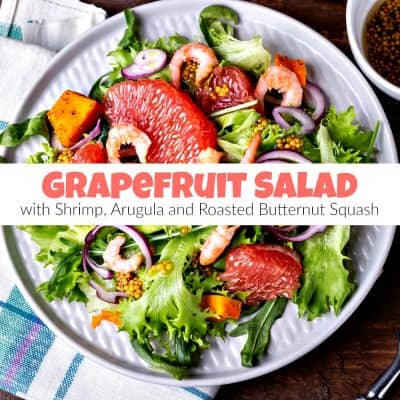 Healthy Shrimp, Arugula and Grapefruit Salad