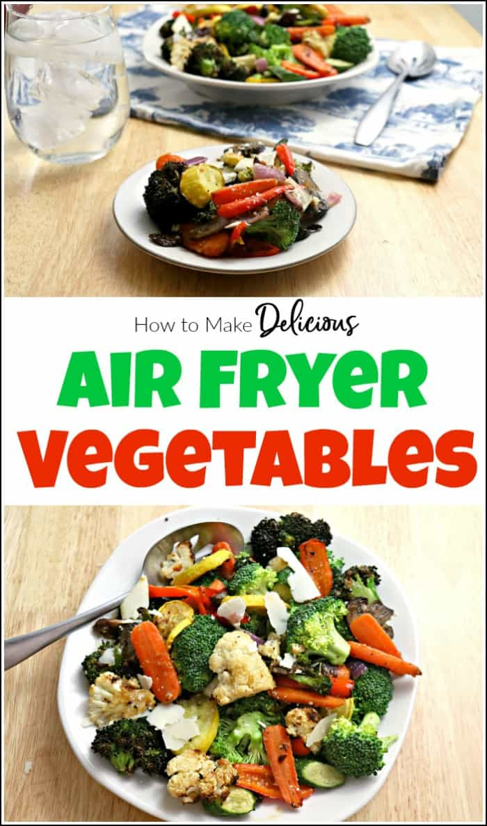 Air fryer vegetables are delicious, even if you don't love to eat your veggies. This air fryer vegetable recipe is perfect as a main course or side dish. #airfryerrecipe #airfryervegetables #healthyairfryerrecipes #vegetablesinairfryer #howtocookvegetablesinairfryer #airfryer