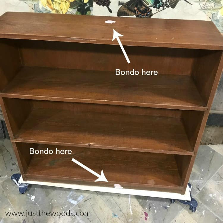 repair wood furniture with bondo, bondo filler, repair crack in wood, wood crack filler