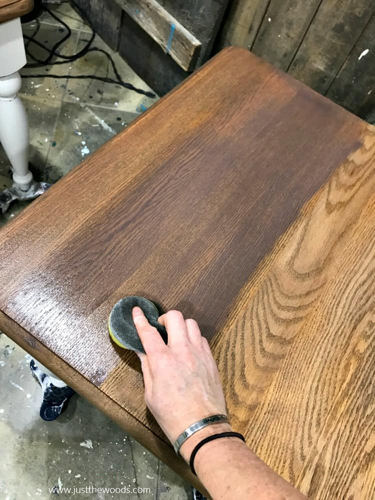 how to stain a table, how to finish a table, how to apply stain, wood stain