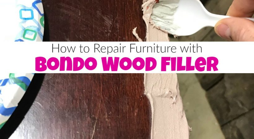 How to Repair Furniture with Bondo Wood Filler