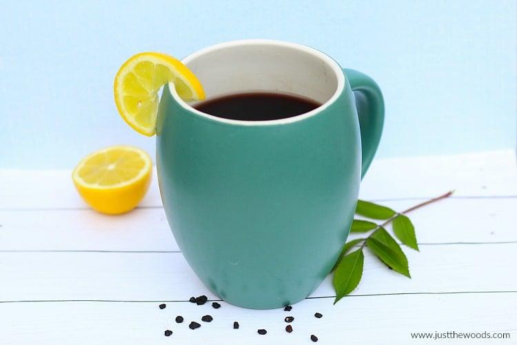 elderberry tea, how to make immunity tea, sambucus tea