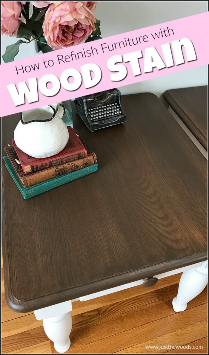 Wood Stain Can Feel Intimidating At Times See How To Refinish A Table With The