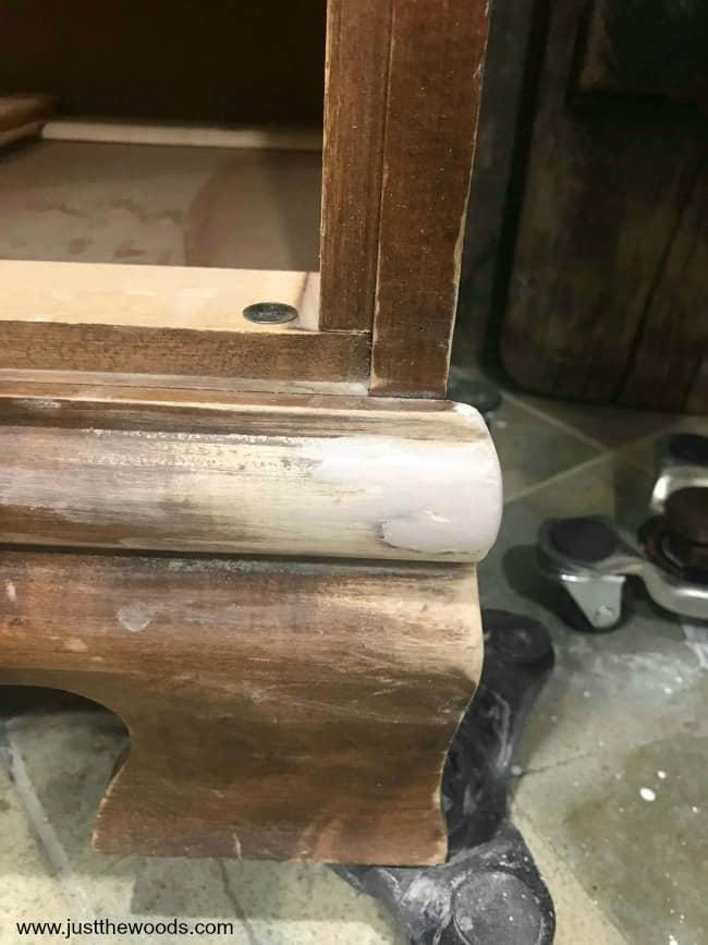 fill missing wood with bondo, repair damaged furniture with bondo, bondo wood filler