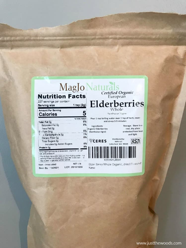 organic elderberries, elderberry tea, sambucus elderberry