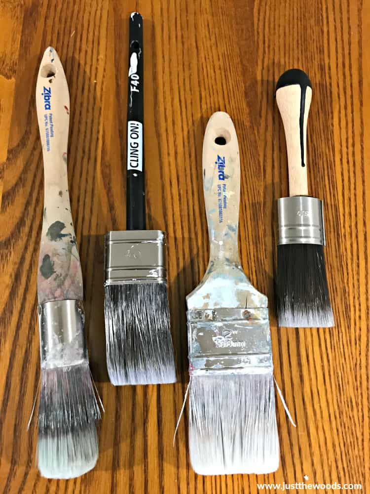 chalk paint brushes, cling on brush, zibra brush