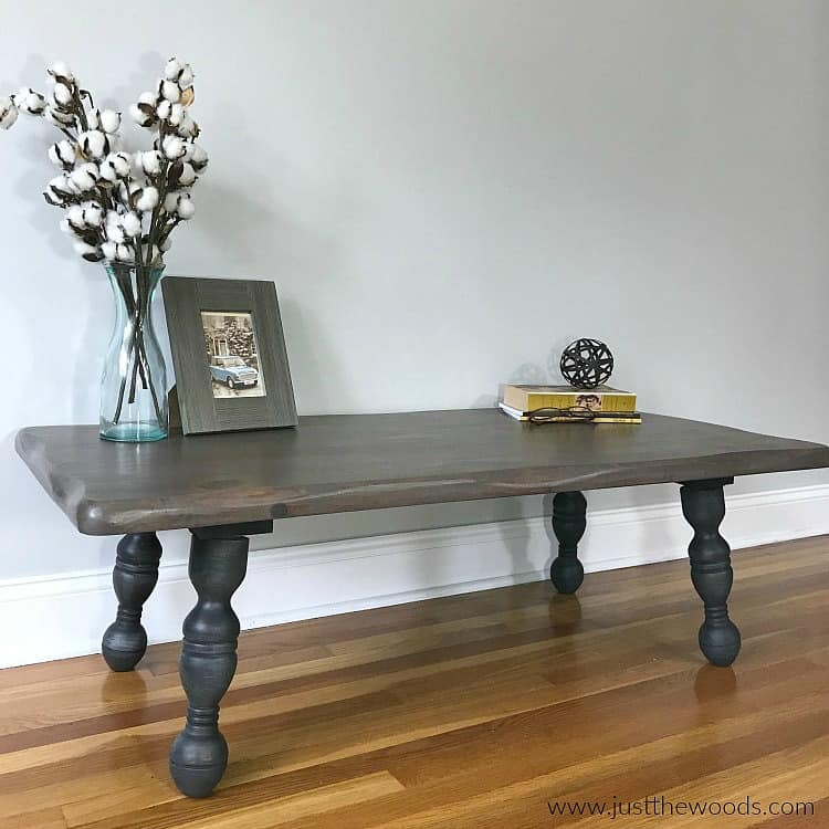 dark charcoal painted furniture, gray wood stain, rustic wood painted table