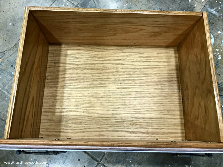 empty wooden drawer