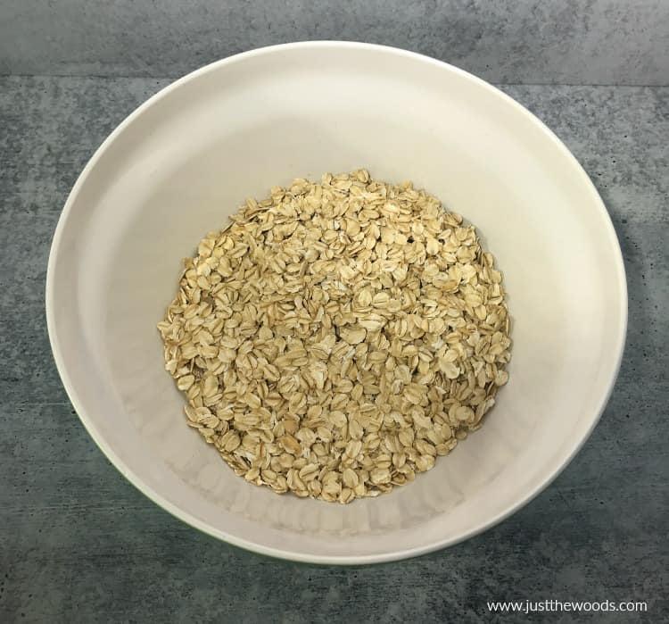 rolled oats in white bowl