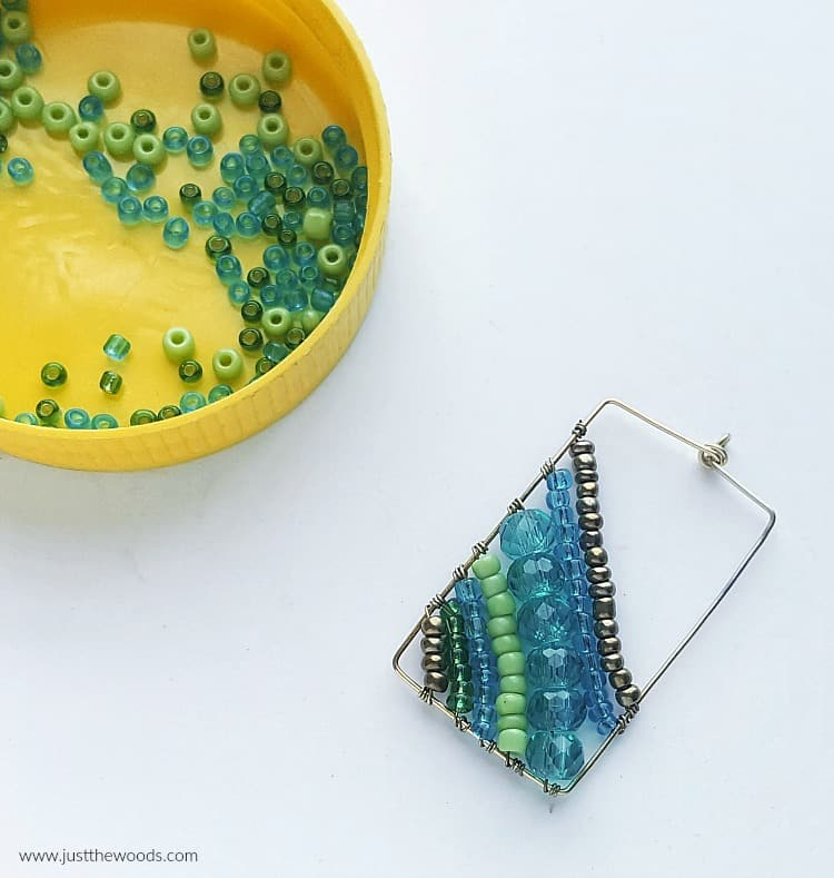 beaded handmade earrings, homemade earrings, diy earrings with beads