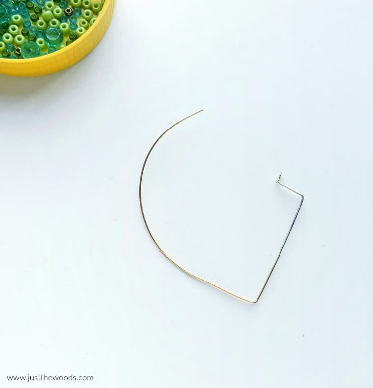 how to make diy earring frames, thin wire earrings