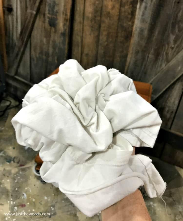 clean t shirt as rag, white rag cloth