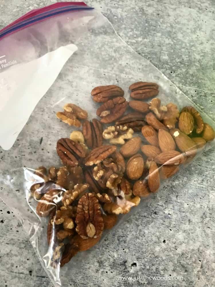 nuts in ziploc bag