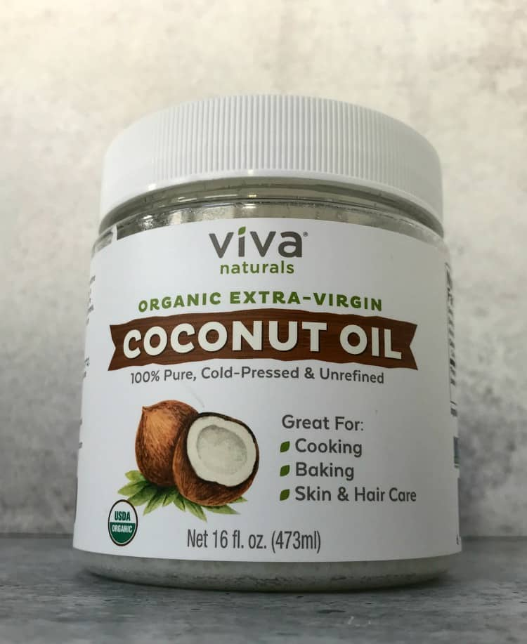 viva coconut oil, unrefined coconut oil, peanut butter protein balls coconut
