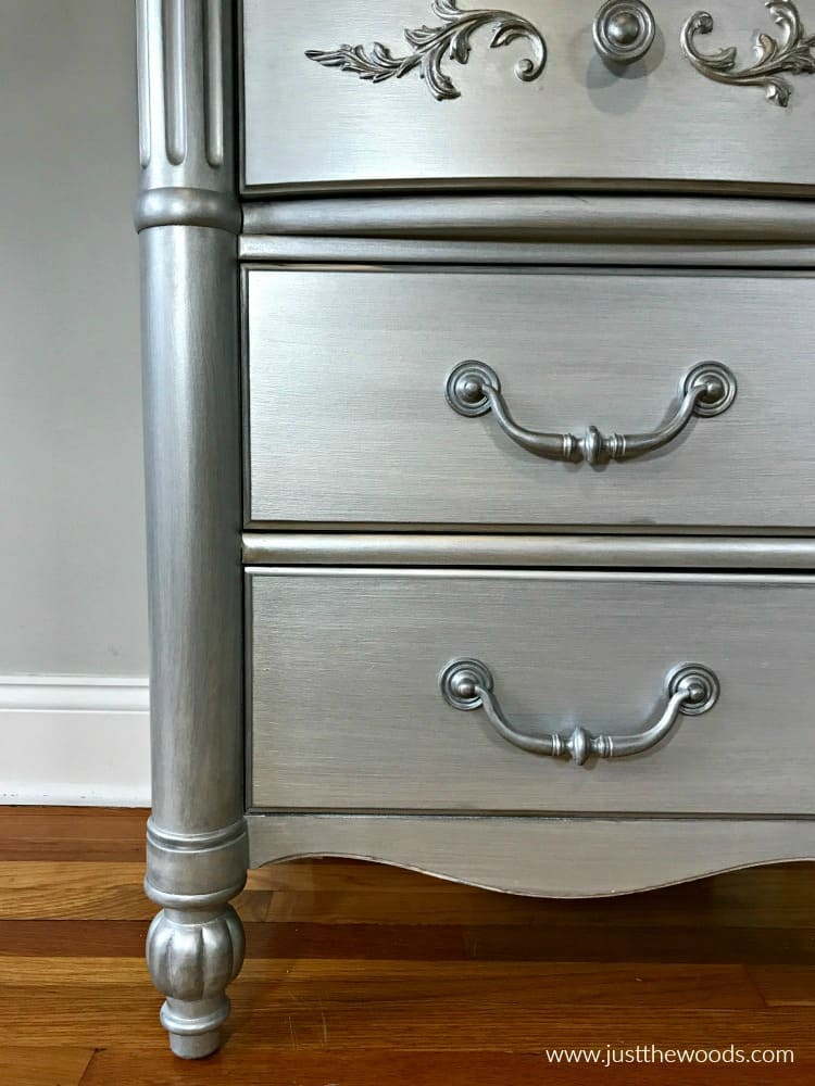 silver gray paint, metallic silver gray painted furniture