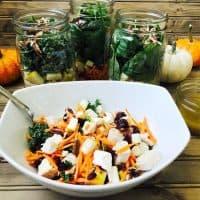 Mason Jar Salads with Maple Cider Vinaigrette (21 Day Fix)