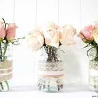DIY Vases and Votive Candles
