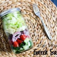 Easy Mason Jar Greek Salad Recipe