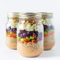 Peanut Crunch Salad in a Jar