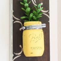 DIY Mason Jar Wall Vases