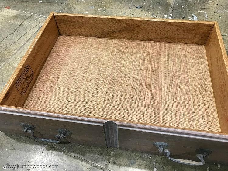 fit drawer liner inside dresser drawer, dry fit drawer paper