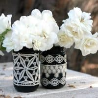 DIY Lace Mason Jars