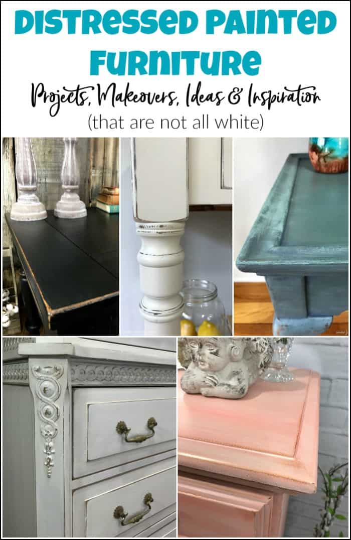 distressed chalk painted furniture