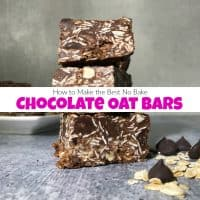 How to Make the Best No Bake Chocolate Oat Bars
