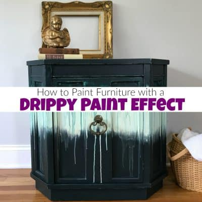 How to Paint Furniture with a Fun Boho Drippy Paint Effect