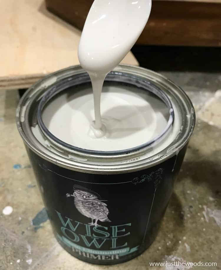 stir primer in can, wise owl paint, wise owl primer, chalk paint primer