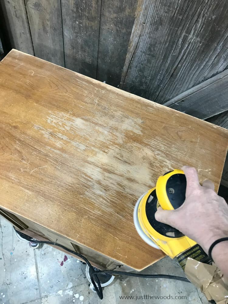 dewalt orbital sander sanding wood furniture