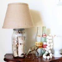 Mason Jar Table Lamp