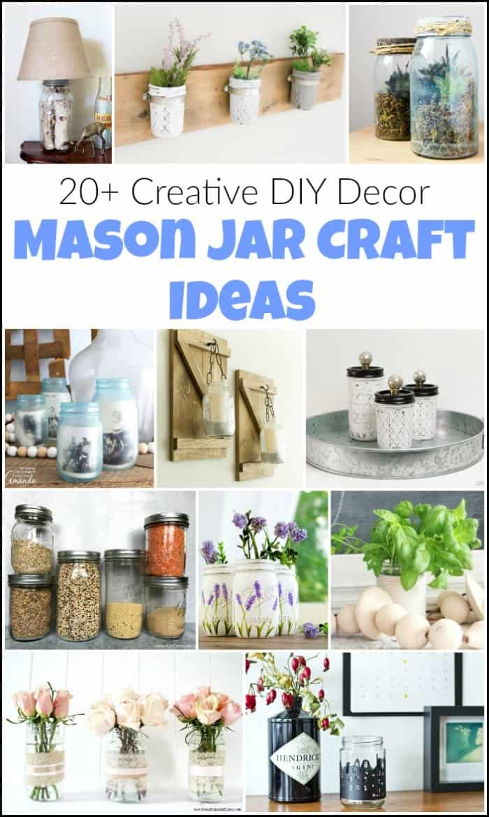 mason jar crafts, mason jar craft ideas, ways to use mason jars